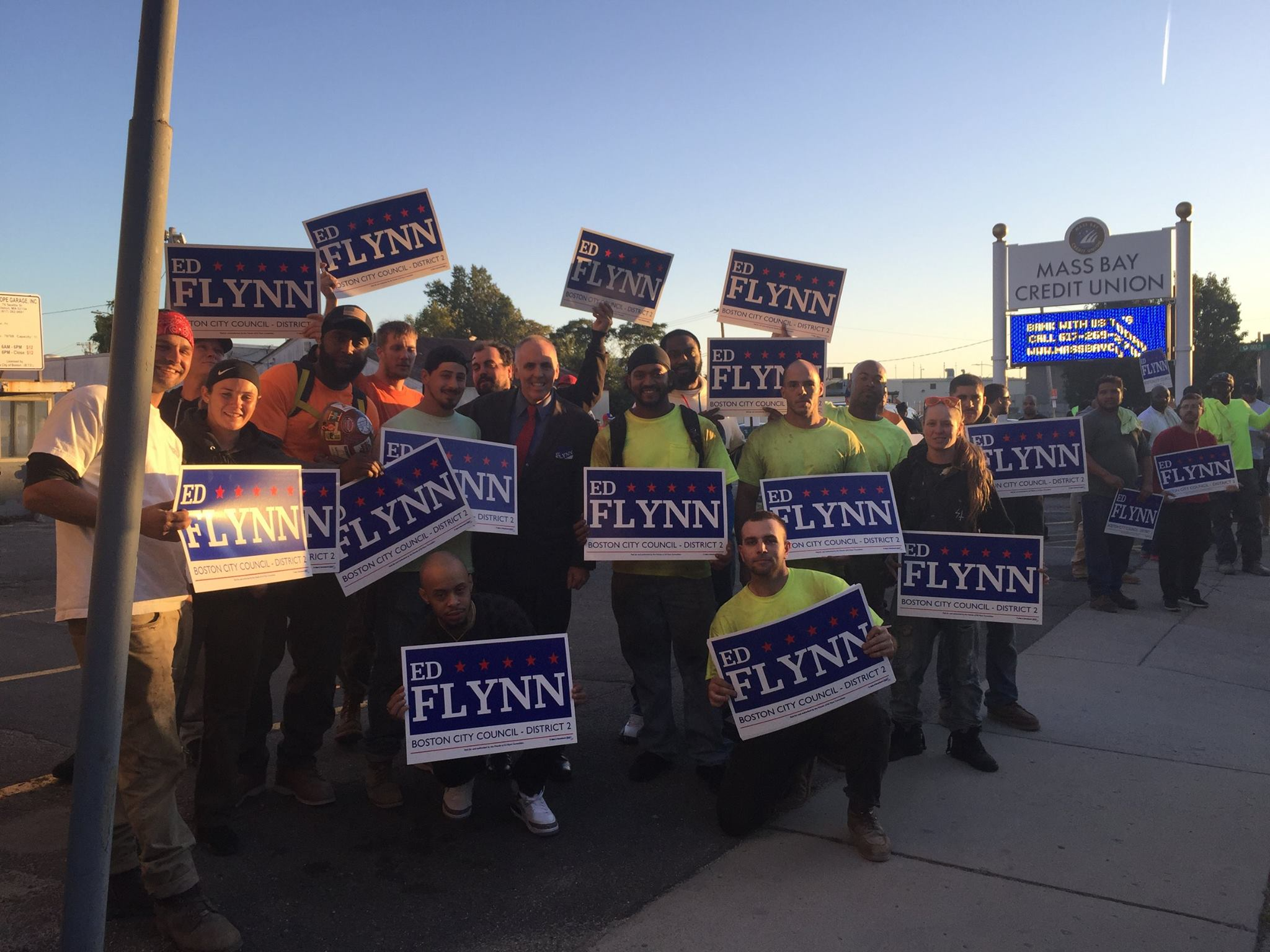 Local 7 officers and members supported Eddie Flynn for Boston City Council in 2017